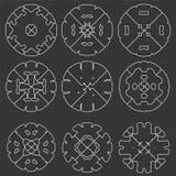 Set of original  design elements -. Set of original  design elements on the black background  -illustration Stock Image