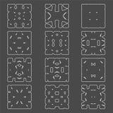 Set of original  design elements - Royalty Free Stock Photo