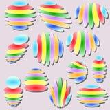 Set of original  design elements -illustration. Set of original abstract colorful  design elements -illustration Stock Photo
