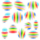 Set of original  design elements -illustration. Set of original abstract colorful  design elements -illustration Stock Photography