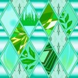 Set of original  design elements -illustration. Abstract green  seamless pattern.  illustration Stock Images