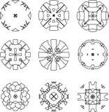 Set of original  design elements-illustration. Set of original black  design elements. abstract geometric shape Stock Image