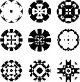 Set of original  design elements-illustration. Set of original black  design elements on the white background Royalty Free Stock Photos