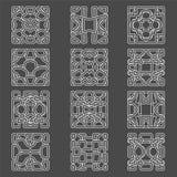 Set of original  design elements -. Illustration on the grey background Royalty Free Stock Image