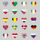 Set of original flags . Stock Photos