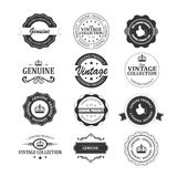 Set of original and genuine badges. Royalty Free Stock Photos