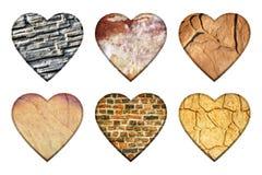 Set of original hearts. Royalty Free Stock Photos