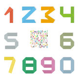 Set of original mathematical figures . Royalty Free Stock Photography