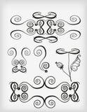 Set of ornament elements. Stock Image