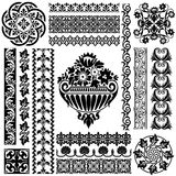Set ornament pattern Royalty Free Stock Photo