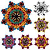 Set ornamentacyjni elementy ilustracja wektor