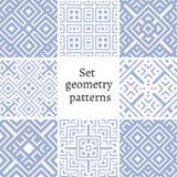 Set ornamentacyjni wzory dla tło i tekstur ilustracja wektor