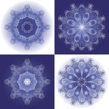 Set of 4 ornamental background Stock Photography