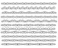 Set ornamental borders. Vector decorative elements. Royalty Free Stock Photography
