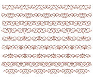 Set ornamental borders. Vector decorative elements. Royalty Free Stock Image
