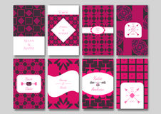 Set of the ornamental card templates. Royalty Free Stock Photography