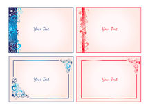 Set of ornamental cards Royalty Free Stock Photos