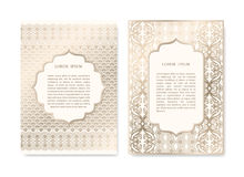 Set of Ornamental Cards Stock Image