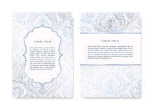 Set of Ornamental Cards Royalty Free Stock Images