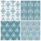 Set of ornamental DAMASK illustrations Royalty Free Stock Images