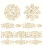 Set of ornamental  decorative elements in arabic style Royalty Free Stock Photography