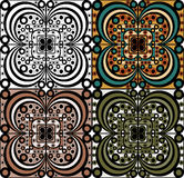 Set of ornamental elements Royalty Free Stock Images