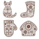 Set of ornamental elements Royalty Free Stock Photo