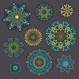 Set of ornamental Floral elements for design Royalty Free Stock Photos