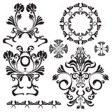 Set of ornamental flowers for design. Vector illustration Royalty Free Stock Image