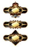 Set of ornamental frames Stock Image