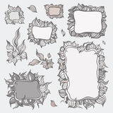 Set of ornamental frames. Stock Photo