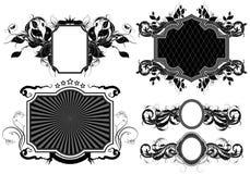 Set of ornamental frames Royalty Free Stock Photos
