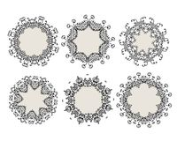 Set of ornamental frames for your design Royalty Free Stock Image
