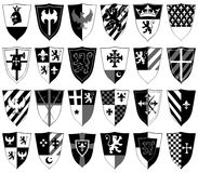 Set of ornamental heraldic shields Royalty Free Stock Image