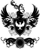 Set of ornamental heraldic shields Royalty Free Stock Images