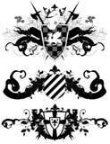 Set of ornamental heraldic shields Stock Images