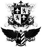 Set of ornamental heraldic shields Stock Photo