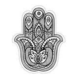 Set of ornamental Indian symbols Stock Photos