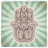 Set of ornamental Indian symbols Royalty Free Stock Image