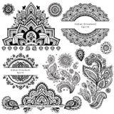 Set of ornamental Indian symbols Stock Image