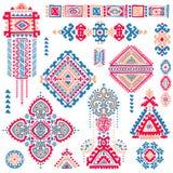 Set of ornamental Indian symbols.Ethnic elephant Stock Photography