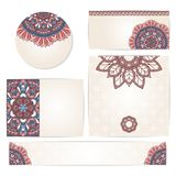 Set of ornamental invitation cards. Stock Photo