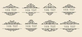 Set of ornamental labels Stock Photography