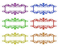 Set of Ornamental Labels Royalty Free Stock Images