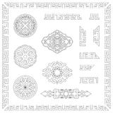 Set Of Ornamental Outlines Royalty Free Stock Photo