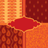 Set of ornamental paisley patterns Royalty Free Stock Photos