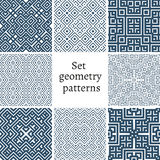 Set of ornamental patterns for backgrounds and textures Royalty Free Stock Images