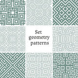 Set of ornamental patterns for backgrounds and textures Stock Photo