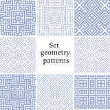 Set of ornamental patterns for backgrounds and textures Stock Image