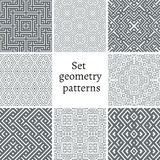 Set of ornamental patterns for backgrounds and textures Stock Photography